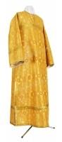 Стихарь клирика из шёлка Ш2 (жёлтый-бордо/золото)