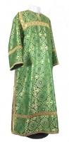 Стихарь клирика из шёлка Ш2 (зелёный/золото)