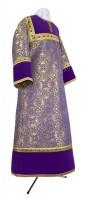 Стихарь алтарника из парчи ПГ1 (фиолетовый/золото)