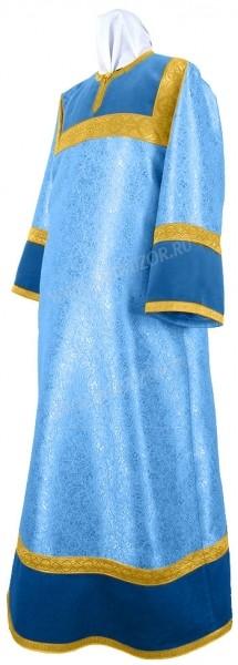 Стихарь детский из парчи ПГ3 (синий/золото)