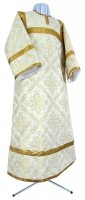 Стихарь детский из шёлка Ш3 (белый/золото)