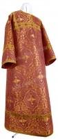 Стихарь детский из шёлка Ш4 (бордовый/золото)