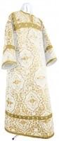 Стихарь детский из шёлка Ш4 (белый/золото)