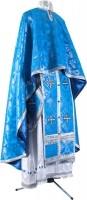 Греческое иерейское облачение из парчи П (синий/серебро)