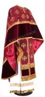 Греческое иерейское облачение из парчи П (бордовый/золото)
