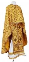 Греческое иерейское облачение из парчи П (жёлтый-бордо/золото)