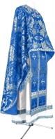 Греческое иерейское облачение из парчи ПГ4 (синий/серебро)