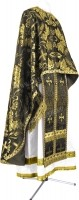 Греческое иерейское облачение из парчи ПГ4 (чёрный/золото)