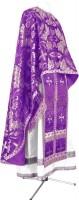 Греческое иерейское облачение из парчи ПГ4 (фиолетовый/серебро)