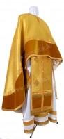 Греческое иерейское облачение из парчи ПГ5 (жёлтый-бордо/золото)