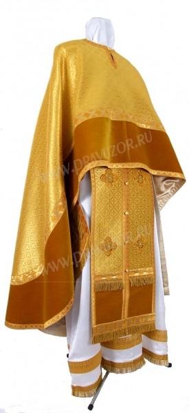 Греческое иерейское облачение из парчи ПГ6 (жёлтый/золото)