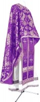 Греческое иерейское облачение из парчи ПГ6 (фиолетовый/серебро)
