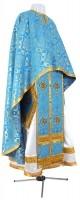 Греческое иерейское облачение из шёлка Ш2 (синий/золото)