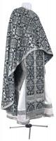 Греческое иерейское облачение из шёлка Ш2 (чёрный/серебро)