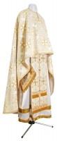 Греческое иерейское облачение из шёлка Ш3 (белый/золото)