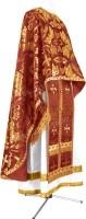 Греческое иерейское облачение из парчи ПГ4 (бордовый/золото)