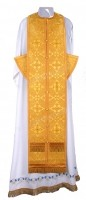 Требный комплект из парчи П (жёлтый/золото)