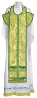 Требный комплект из парчи ПГ3 (зелёный/золото)