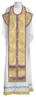 Требный комплект из парчи ПГ3 (фиолетовый/золото)