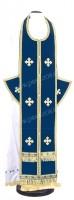 Требный комплект из нем. бархата (синий/золото)