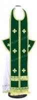 Требный комплект из нем. бархата (зелёный/золото)