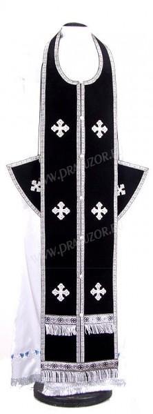 Требный комплект из нем. бархата (чёрный/серебро)