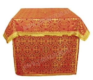 Облачение на жертвенник из парчи ПГ5 (красный/золото)