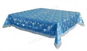 Пелена на престол/жертвенник из парчи ПГ1 (синий/серебро)