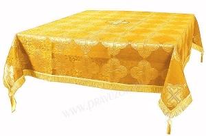 Пелена на престол/жертвенник из парчи ПГ4 (жёлтый/золото)