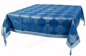 Пелена на престол/жертвенник из парчи ПГ5 (синий/серебро)