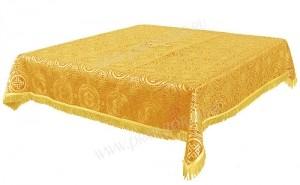 Пелена на престол/жертвенник из шёлка Ш3 (жёлтый/золото)