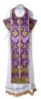 Требный комплект из шёлка Ш2 (фиолетовый/золото)