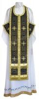 Требный комплект из шёлка Ш3 (чёрный/золото)
