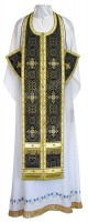 Требный комплект из шёлка Ш4 (чёрный/золото)