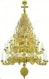 Семиярусное церковное паникадило - 1 (98 свечей)