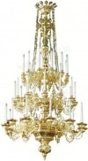 Трёхъярусное церковное паникадило - 4 (36 свечей)