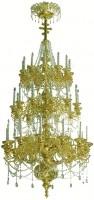 Трёхъярусное церковное паникадило - 5 (36 свечей)