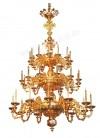 Трёхъярусное церковное паникадило - 6 (36 свечей)