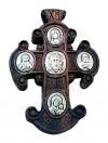 Крест православный нательный деревянный с иконами №09-1
