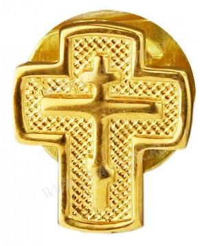 "Значок в позолоте ""Крест"" - 1"