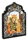 """Настольная икона - - Богородица """"Неувядаемый Цвет""""."""