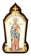 Икона настольная  в серебре - святитель Николай Чудотворец.