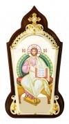 Икона настольная  в серебре - Господь Вседержитель.
